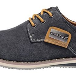 Index Men'S Dull Polish Genuine Leather Lace-Up Casual Sports Shoes(7.5D(M)Us,Grey)