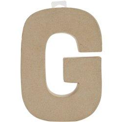 """Paper Mache Letter 8""""X5-1/2""""-Letter G"""