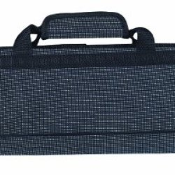 Messermeister 8-Pocket Padded Knife Roll, Black And Blue Woven