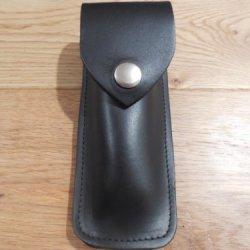 "Handmade Leather Knife Sheath. 5"" Black"
