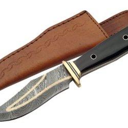 Szco Supplies Brass Inlay Damascus Knife