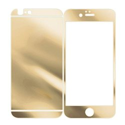 Towallmark(Tm)Electroplating Mirror Effect Front+Back Tempered Glass Film Screen Protector For Iphone 6 (Gold)