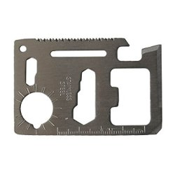 Hot Sale 11 Function Credit Card Knife Stainless Steel Mini Portable Survival Tool For Camping,Hiking