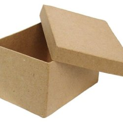 Paper Mache Rectangle Box 4 1/2 In. By Craft Pedlars