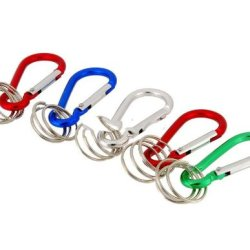 5 Pcs Outdoor Accessory Climbing Carabiner With Key Rings Produced By Ysk