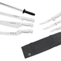 Mundial W56-982 8-Piece Chef'S Knife Set, White