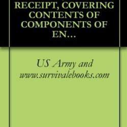 Us Army Technical Manual, Hand Receipt, Covering Contents Of Components Of End Item (Coei), Basic Issue Items (Bii), And Additional Authorization List ... Tm 32-5895-206-14&P-Hr, 1980