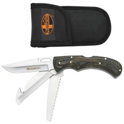 Best Quality 3 Blade Locking Folding Knife By Mossberg™ 3-Blade Field Dressing Knife