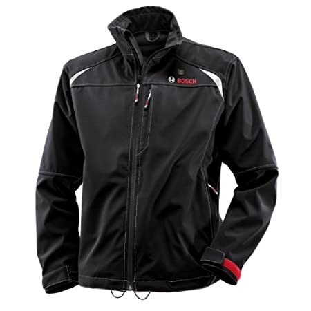 Includes 12V Max Lithium-Ion Softshell Heated Jacket - Large - PSJ120L-RT, 12V Max Battery Holster/Backup - BHB120-RT     The Bosch PSJ120 12-Volt Max Lithium-Ion Soft-shell Heated Jacket     The PSJ120 12-volt max heated jacket is a high quality rai...