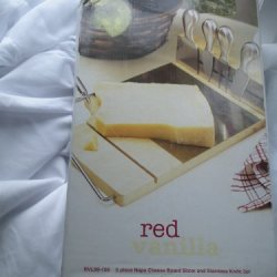 Red Vanilla 5-Pc Napa Cheese Board Slicer And Stainless Knife Set