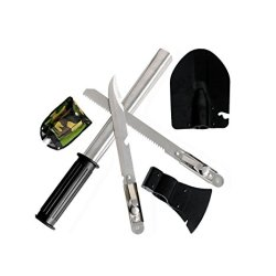4 In 1 Military Type Steel Survival Shovel Axe Saw Knife Combined Camp Tool Kit Outdoor Survival Tool 1Set