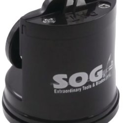 Sog - Countertop Sharpener *** Product Description: Sog - Countertop Sharpener Suction Base Attaches Sharpener To Flat, Non-Porous Surface For Solid Control Easily Sharpens Almost Any Knife ***