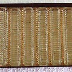 Antique Complete Set Of 12 Vintage Crystal Cut Glass Knife Rests In Original Box