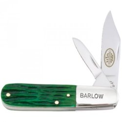 Utica Cutlery 11-24779Gb Barlow With Big Pine Handle, 3.25-Inch, Green/Stainless