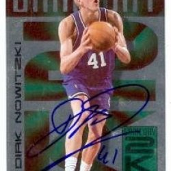 Dirk Nowitzki Autographed Basketball Card (Dallas Mavericks) 1999 Skybox #3 Of 20 Game Day 2K