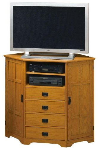 Image of Craftsman 2 door Corner Wide Screen Tv Stand (B003JBTVDO)