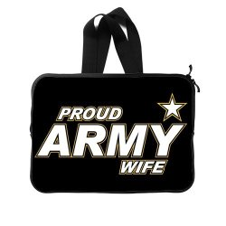 Jdsitem Simple Proud Army Wife Star Design Computer Bag Case Cover Sleeve Protector For Notebook/Laptop/Macbook Air/Pro