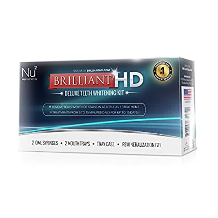 Brilliant HD Deluxe Teeth Whitening Kit PRO A dental grade whitening solution that removes years worth of stains in as little as 1 treatment. With Brilliant HD you can have dental grade whitening without the high cost and sensitivity issues that com...