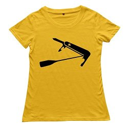 Ywt Swiss Paddle Knife Woman T-Shirt Slim Fit Funny Yellow