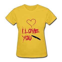Woman 100% Cotton Heart Hq Fitted Tshirts