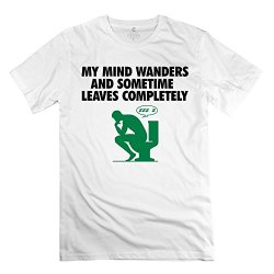 Mind Wander Perfect Mens T-Shirt Size M Color White