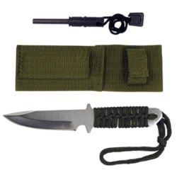 Outdoors Camping Survival Knife Magnesium Fire Starter