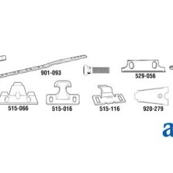 A & I Products Knife Clip, Low; 1/Pr Card Replacement For Massey Ferguson Par...