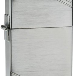 Zippo 1935 Replica Brushed Chrome Lighter With Slashes