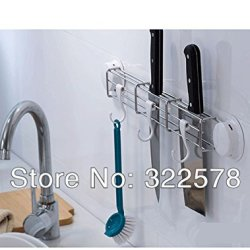 Multifunctional Stainless Steel Wall Mounted Kitchen Knife Holder And Block , Kitchen Shelf And Storage For Knives