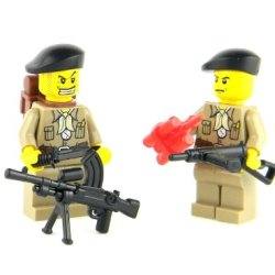 British Sas Ww2 Soldiers- Battle Brick Custom Minifigures
