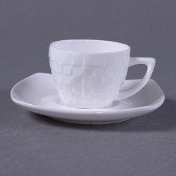 Granvela Coffee Cups Coffee Mugs Pure Bone China Sculpture Designed Artworks A Cup Of A Saucer