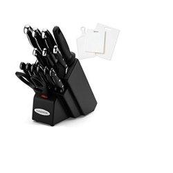 Farberware 15-Piece Black Forged Triple Rivited Cutlery With 3 Bonus Cutting Boards (5071957K)