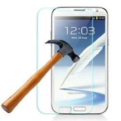 Htech Samsung Galaxy Note2 N7100 Premium Shatterproof Crystalline Explosion-Proof 0.3Mm Flat Ultra-Thin Tempered Glass Screen Protector With 9H Hardness/Perfect Anti-Scratch/Shatterproof/Fingerprint & Water & Oil Resistant (Samsung Galaxy Note2)
