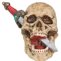 Skull Dagger Collectible Skeleton Figure
