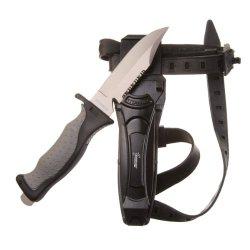 "Seavenger Titanium Knife & Knife Strap For Scuba Diving / Snorkeling Diver (4 3/8"" Blade) Sharp Tip"