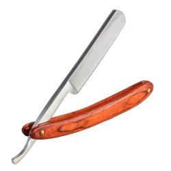 """New Straight Edge Stainless Steel Barber Razor Folding Shaving Knife Wood 9 5/6"""""""