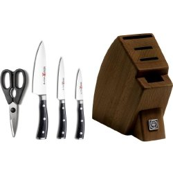 Wusthof Classic Ikon 5-Piece Studio Knife Block Set - Walnut