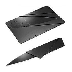 Authentic Credit Card Sized Folding Knife Camping Knife With Black Blade Army Hunting Knife Outdoor Portable Card Knife (10Pcs)