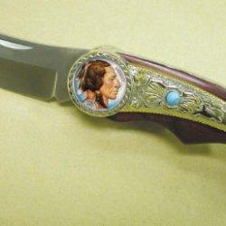 Colorized Buffalo Nickel Pocket Knife