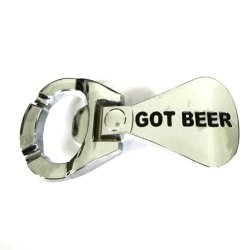 Hogar Mens Zinic Alloy Opener Belt Buckle Got Beer Bright Buckles Color Bright