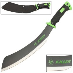 Savage Steel Zombie Killer Apocalypse Parang Chopping Rugged Machete Knife