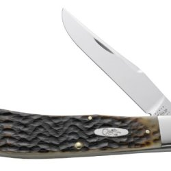 Case Cutlery 07182 Case Backpocket Knife, Dark Molasses Bone