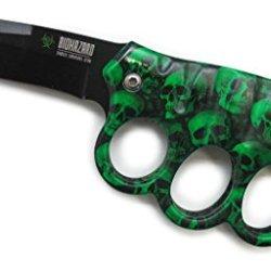 "Biohazard Zombie ""Nefarious"" Ao Knife - Green Camo Skulls - A Must Have For Zombie Hunters"