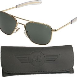 American Optical Pilot Aviator Sunglasses 55 Mm Gold