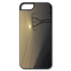 Awesome Scratch Sun Down Clouds Mobile Phone 5S Shell