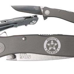 Deputy Sheriff Eagle Police Custom Engraved Sog Twitch Ii Twi-8 Assisted Folding Pocket Knife By Ndz Performance