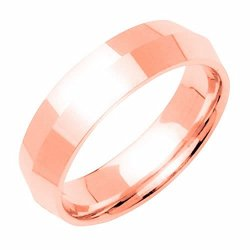 14K Rose Gold Traditional Knife Edge Women'S Wedding Band (6Mm) Size-8