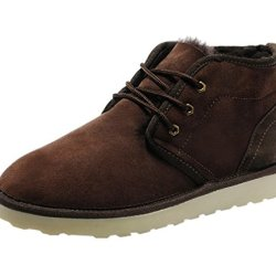 Rock Me Fur Sturdy Heel Knitting Lace Up Men Ankle Boots Integr I(9 D(M) Us, Brown)