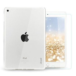 Arozell-Crystal-Clear-Armor-Slim-Fit-TPU-Case-for-Rugged-Stylish-Protection-of-Your-iPad-Mini-4-2015-Model