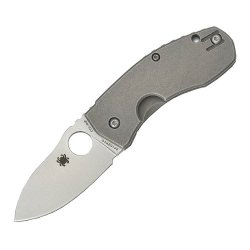 Spyderco Techno Titanium Xhp Plain Edge Knife